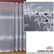 Firana haftowana na woalu 12829 SZER 2,3m WYS 180cm kolor biały