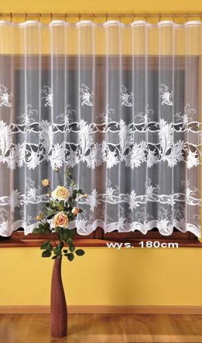 Firana żakardowa 295050 szer.3,80 m x wys.245 cm z taśmą